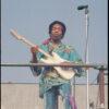 Jun 22, 1969, Los Angeles - Jimi Hendrix performs at the 'Newport '69 festival in Northridge, California. © Kevin C. Goff