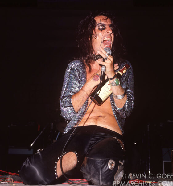 Jul 23, 1972, Los Angeles - Alice Cooper performs at the Hollywood Bowl. © Kevin C. Goff