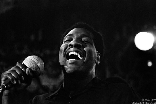 April, 1966, Los Angeles - Otis Redding performs at the Whisky a Go Go on the Sunset Strip. © Lisa Law