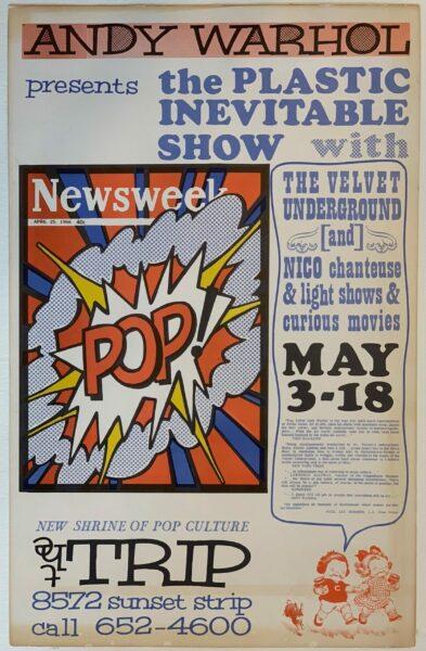 The Plastic Inevitable Show w the Velvet Underground