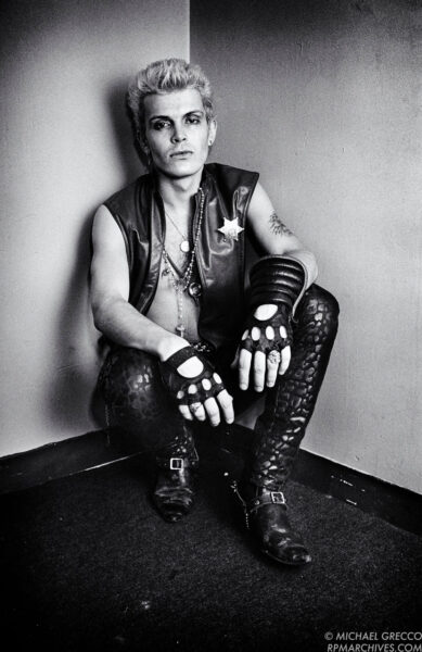 Billy Idol, Boston, 1982 by Michael Grecco