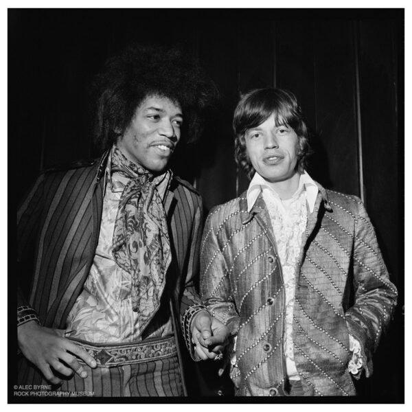 Jimi Hendrix and Mick Jagger, Top of the Pops, 1967