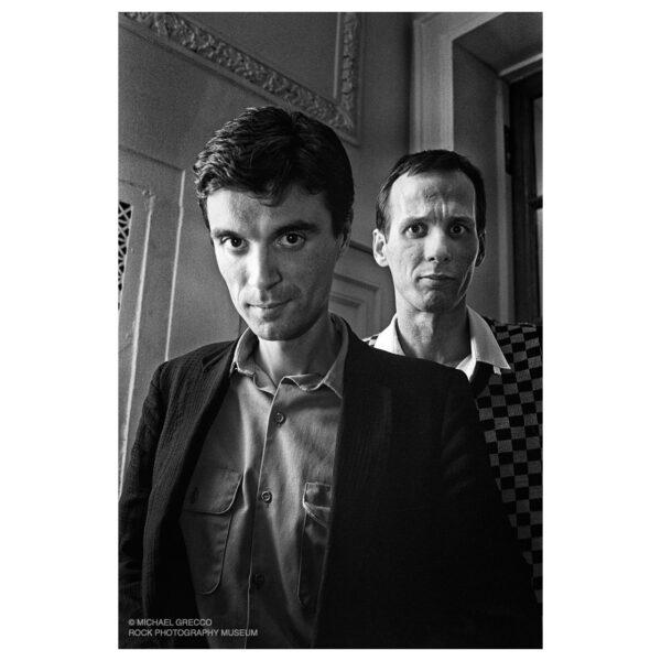 David Byrne and Adrian Belew, Boston, 1980