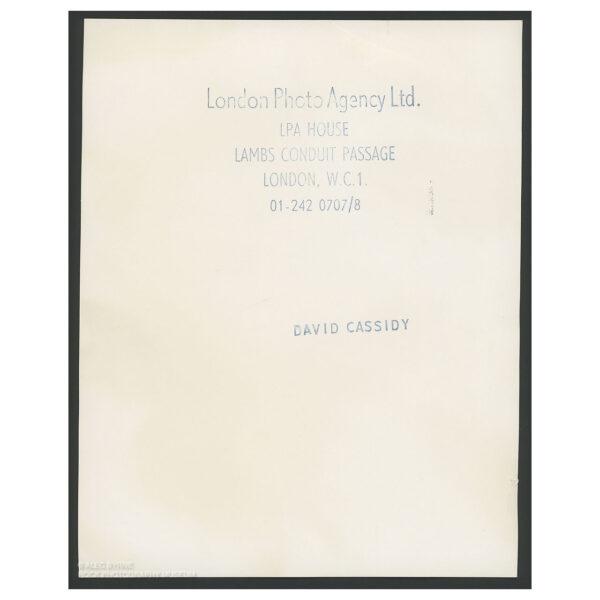 David Cassidy - Vintage Print © Alec Byrne
