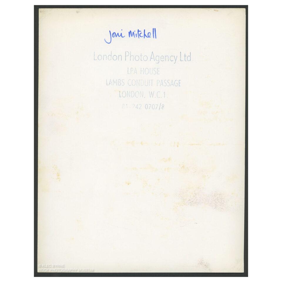 Joni Mitchell - Vintage Print © Alec Byrne